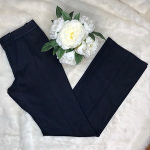 Tahari Navy Boot Cut Dress pants